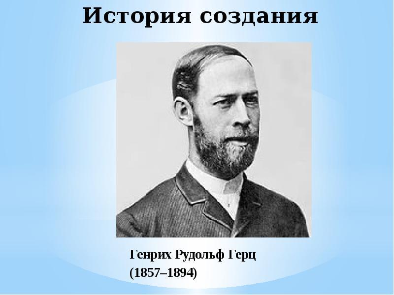 История создания Генрих Рудольф Герц (1857–1894)