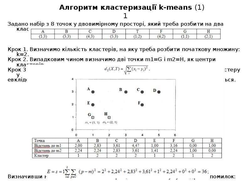 Алгоритм кластеризації k-means (1)