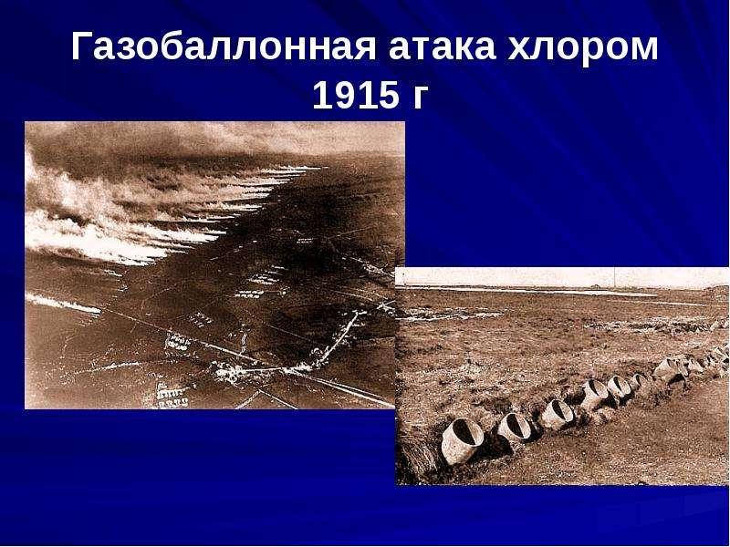 Газобаллонная атака хлором 1915 г