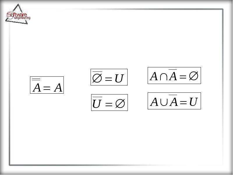 Основные понятия теории множеств, слайд 27