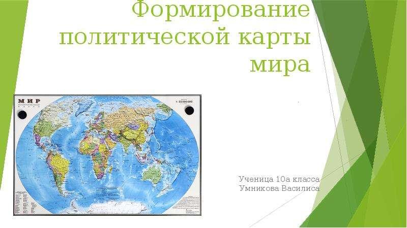 Презентация Формирование политической карты мира