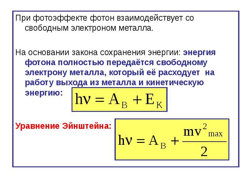 это говорит как взаимодействует фотон это отверстие