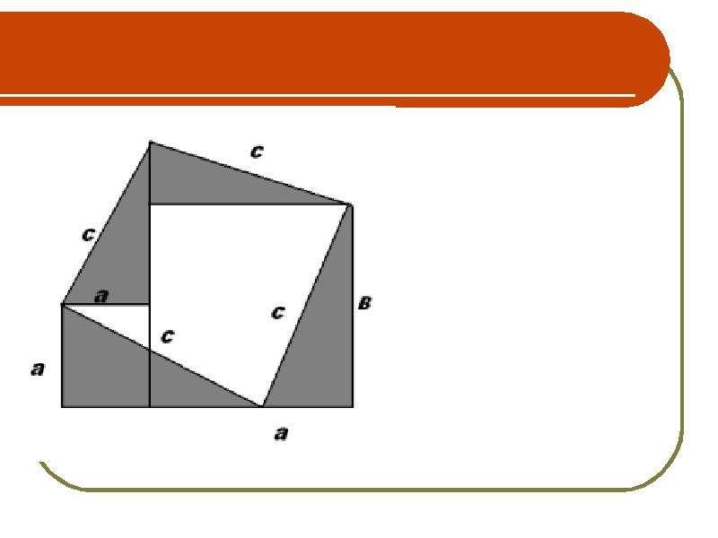 Старинная задача. Теорема Пифагора, слайд 18