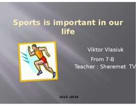 Sport important in our life