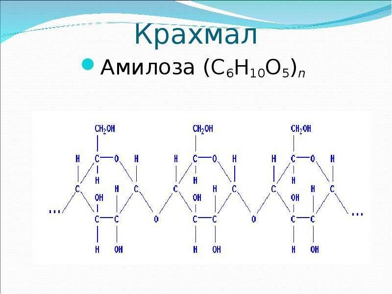 Крахмал Амилоза (C6H10O5)n