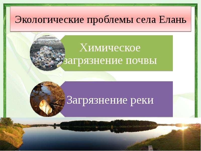 Экологические проблемы села Елань