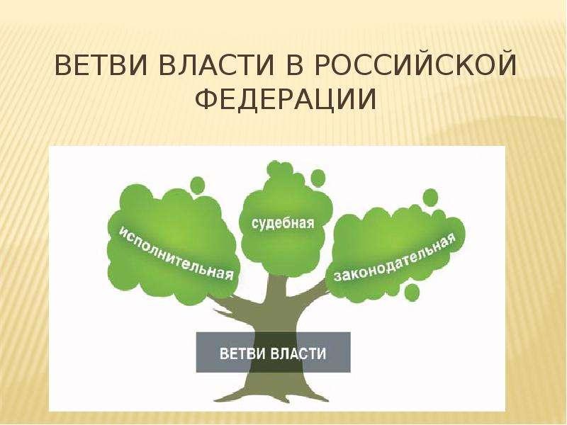 Презентация Ветви власти в Российской Федерации