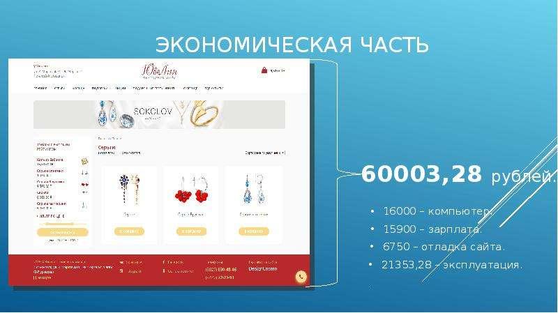 Экономическая часть для создания сайта крупные компании краснодар официальный сайт вакансии