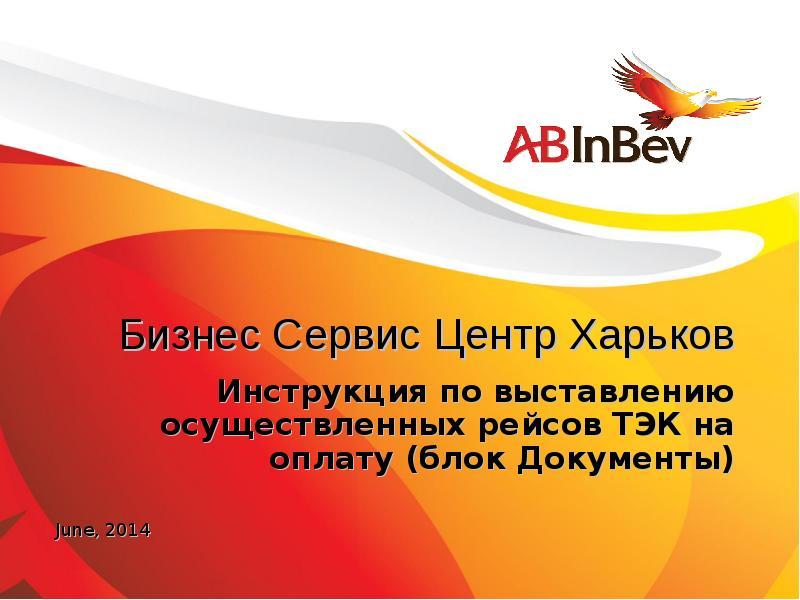 Презентация Бизнес Сервис Центр Харьков. Инструкция по выставлению осуществленных рейсов ТЭК на оплату (блок документы)