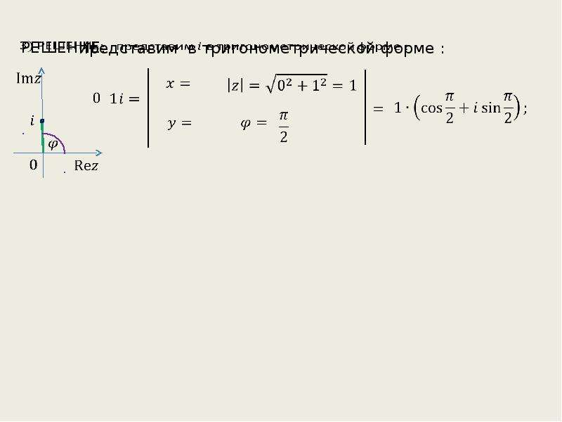 Комплексные числа. Решение задач, слайд 7