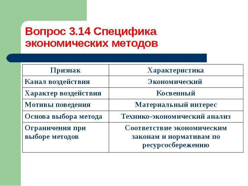 Методы управления процессом ресурсосбережения, слайд 18