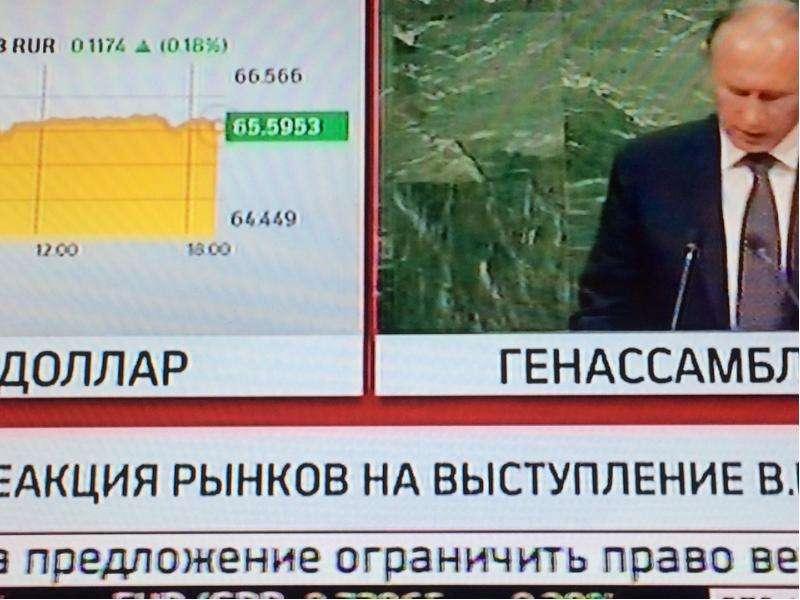 Выступление Владимира Путина на Генассамблее ООН и реакция рынка