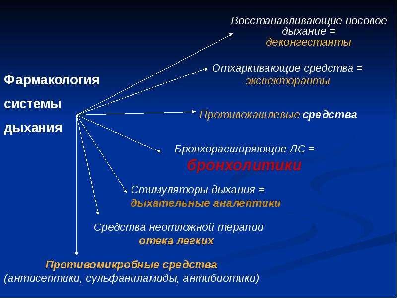 Фармакология системы дыхания (лекарственные средства, регулирующие функцию органов дыхания), слайд 22