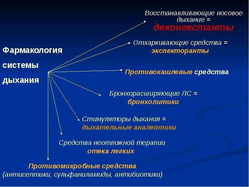 Фармакология системы дыхания (лекарственные средства, регулирующие функцию органов дыхания), слайд 4