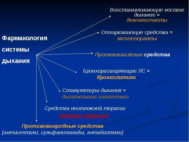 Фармакология системы дыхания (лекарственные средства, регулирующие функцию органов дыхания), слайд 41