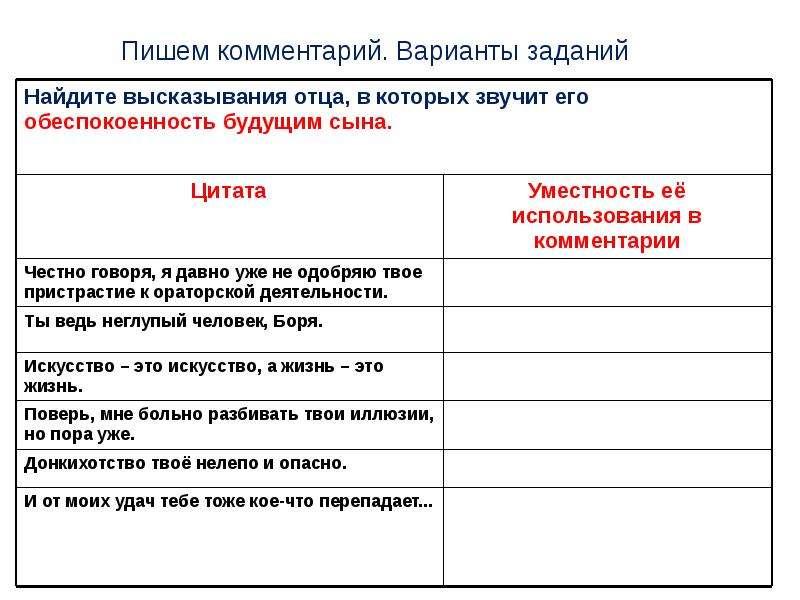 ЕГЭ Пишем комментарий к сформулированной проблеме текста, слайд 21