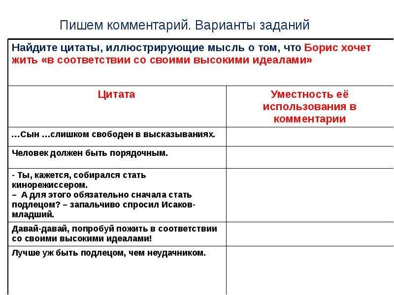 ЕГЭ Пишем комментарий к сформулированной проблеме текста, слайд 23