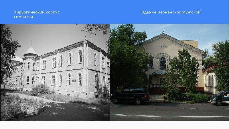 Хирургический корпус Здание Верненской мужской гимназии