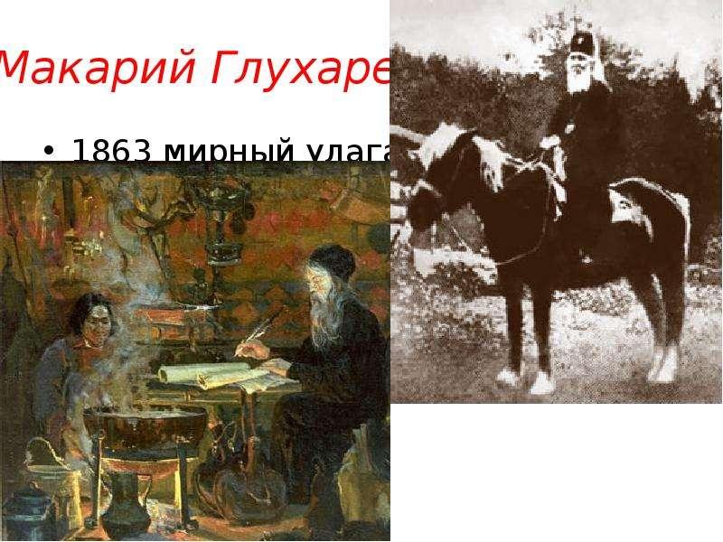 Макарий Глухарев 1863 мирный улаган ла турачак чике таман бийске 1660 двоеданство территория геноцид