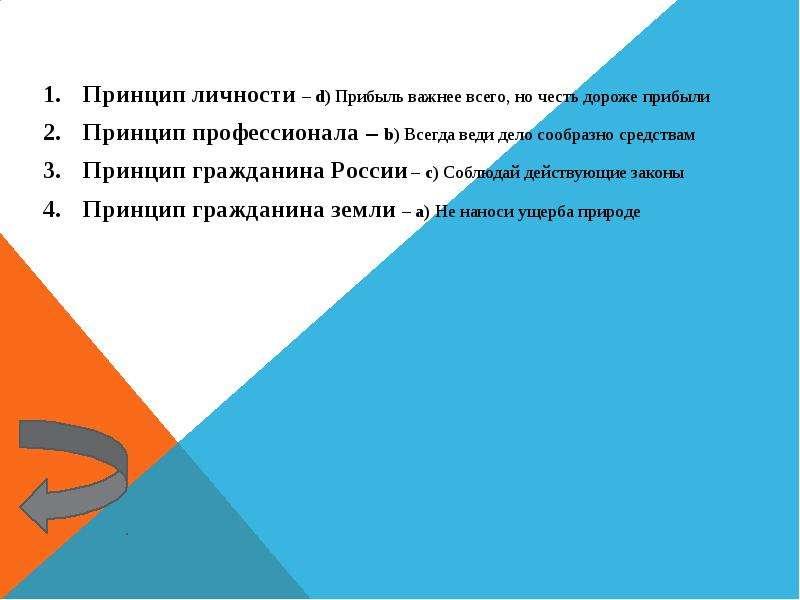 Игра «Административная и деловая этика», слайд 23