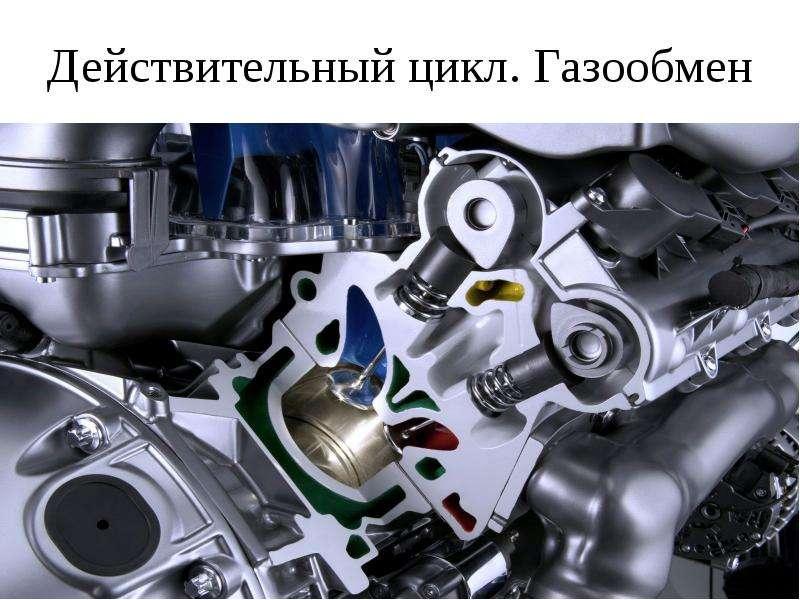 Презентация Действительный цикл. Газообмен ДВС