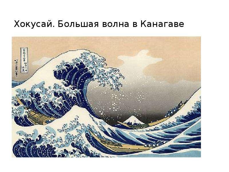 Хокусай. Большая волна в Канагаве а