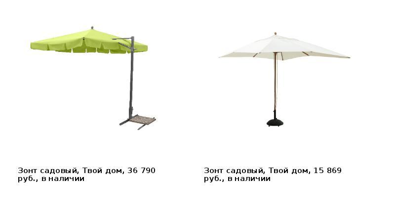 Зонт садовый, Твой дом, 36 790 руб. , в наличии