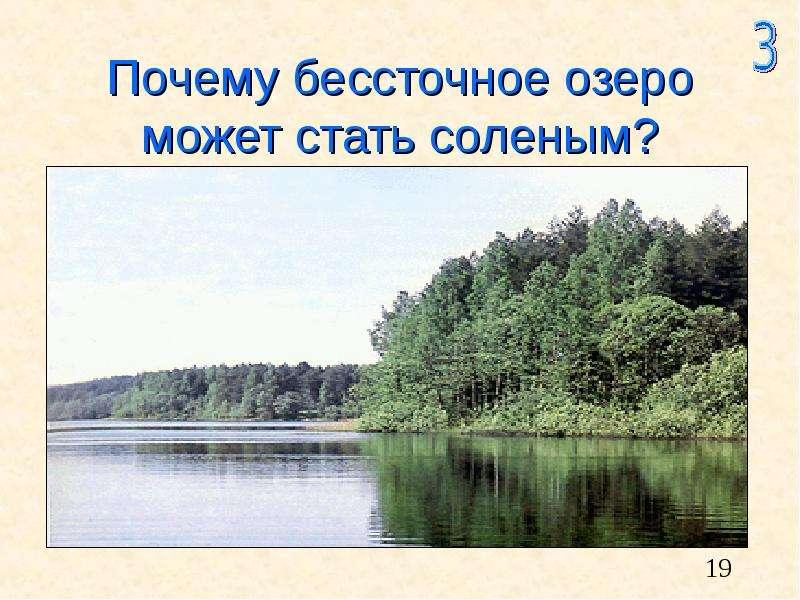 Почему бессточное озеро может стать соленым?