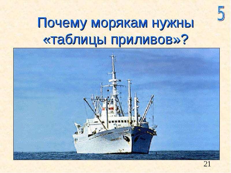 Почему морякам нужны «таблицы приливов»?