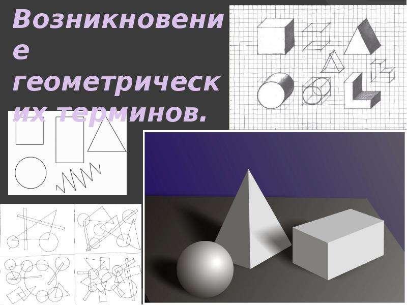 Презентация Возникновение геометрических терминов