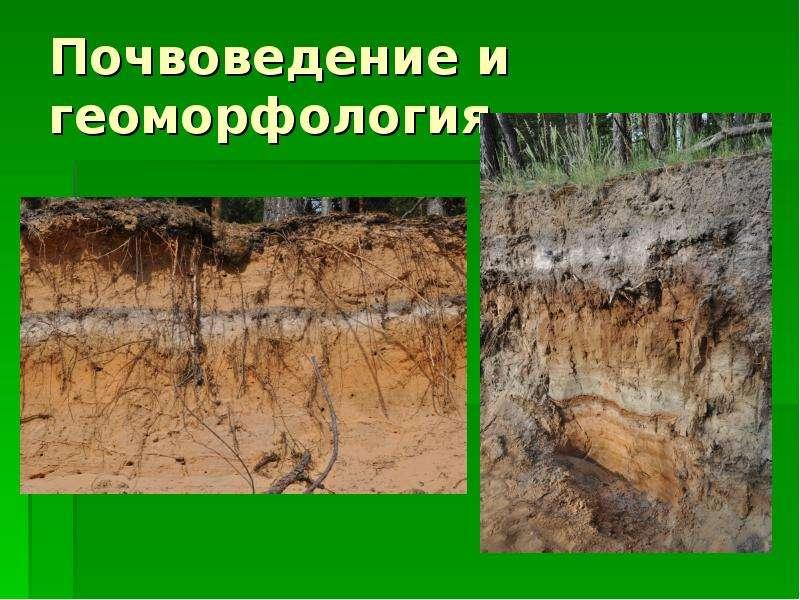 Почвоведение и геоморфология