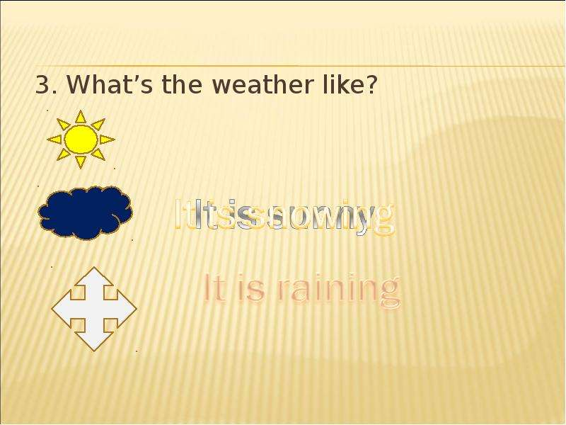 3. Whats the weather like?