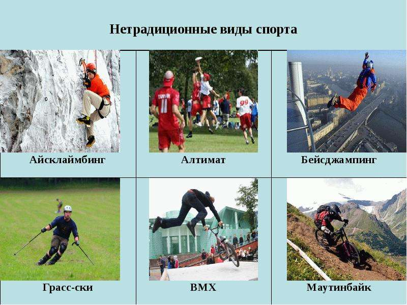 Нетрадиционные виды спорта
