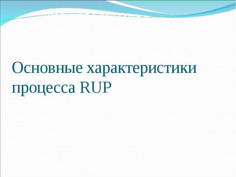 Основные характеристики процесса RUP