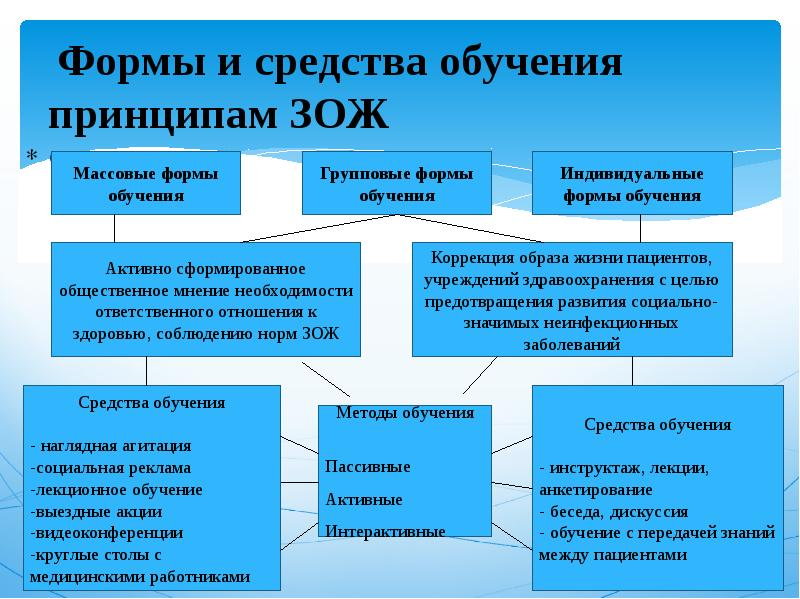 Формы и средства обучения принципам ЗОЖ с