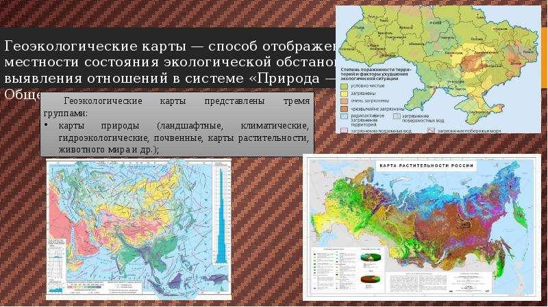 Геоэкологические карты — способ отображения на местности состояния экологической обстановки и выявле