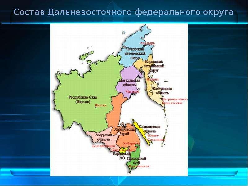 Состав Дальневосточного федерального округа