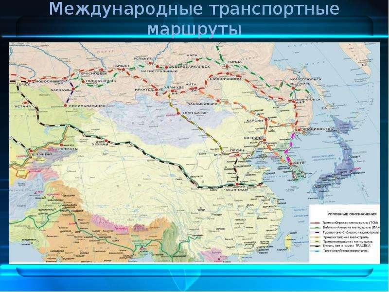 Международные транспортные маршруты