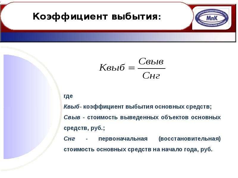 Основные средства и производственная мощность организации, слайд 39