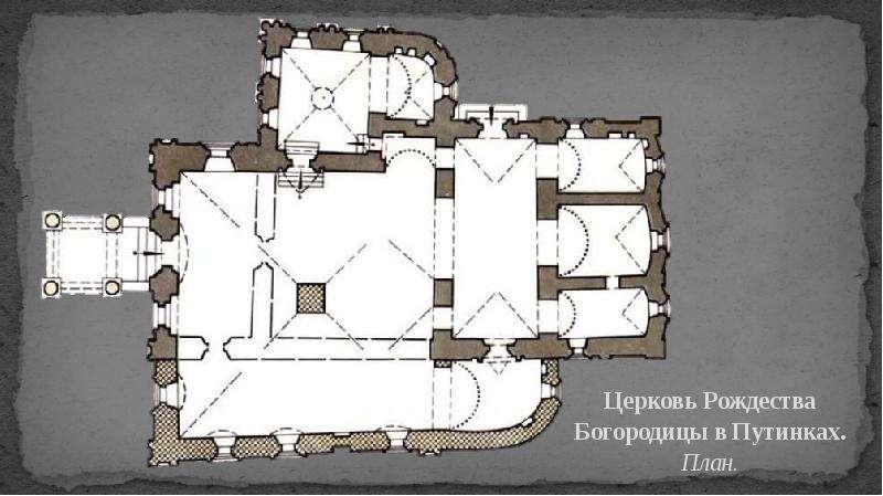 Церковь Рождества Богородицы в Путинках. План.
