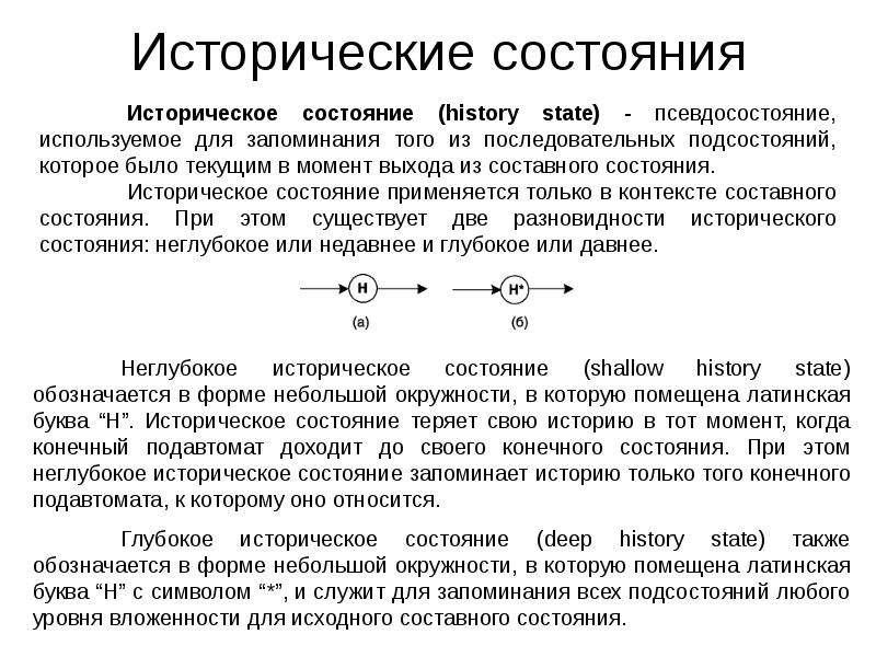 Исторические состояния
