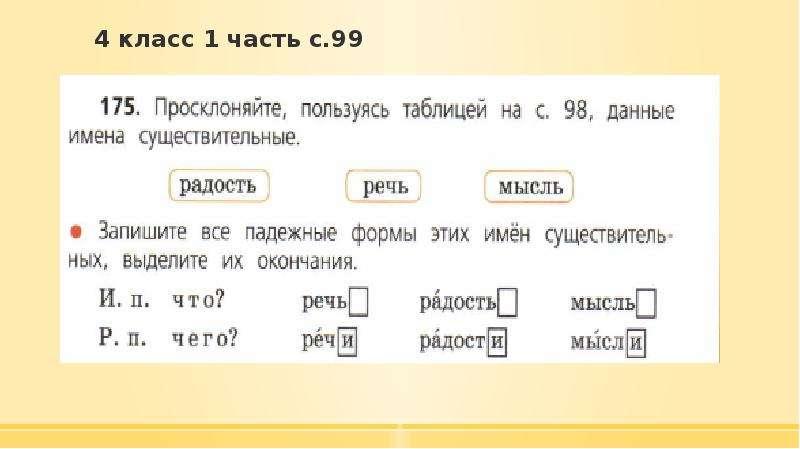 4 класс 1 часть с. 99