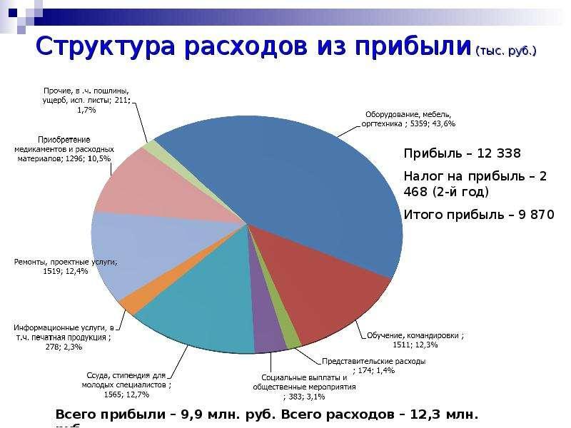 Структура расходов из прибыли (тыс. руб. )