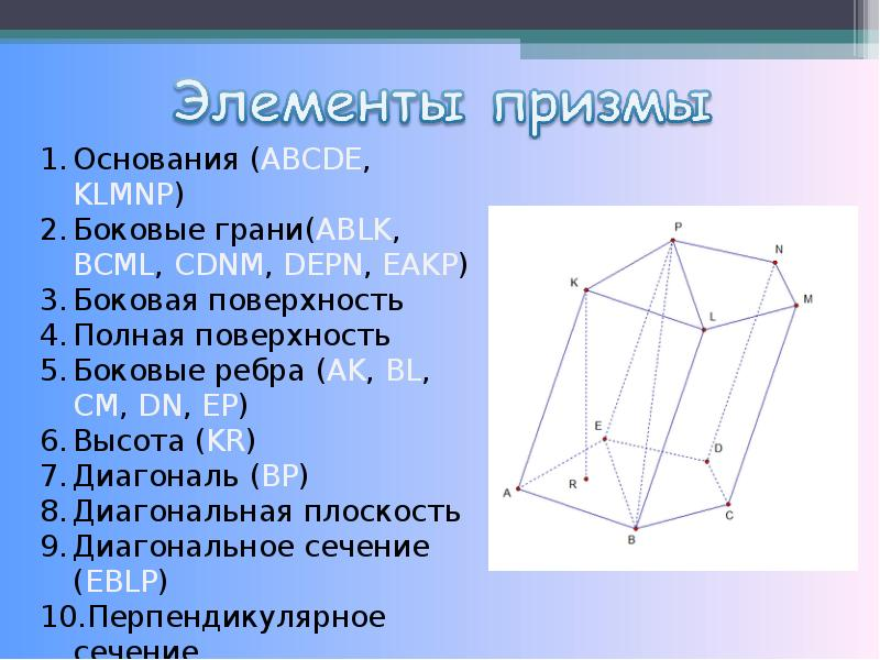 Призма. Элементы и виды призм. Теорема, слайд 4